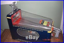 VINTAGE SILVER KING DUCK HUNTER GUM BALL Vendor 1940s PENNY ARCADE Game with key