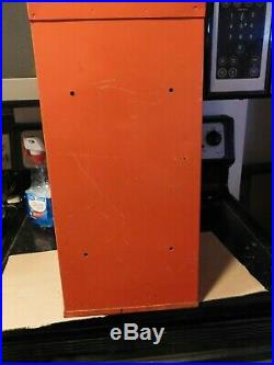 VINTAGE SPORTS CARD CENTER BASEBALL VENDING MACHINE NICE GRAPHICS WithKEY
