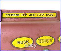 Vintage Spray-a-way Cologne 10 Cent Vending Machine Three Scent Dispenser Casing