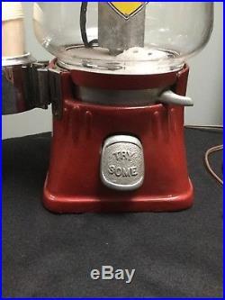 VINTAGE STANDARD 5 CENT HOT NUT PEANUT MACHINE WithCUP Dispenser