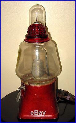 VINTAGE Silver King 5 Cent Hot Nut Machine with Dixie Vortex Glass Cup Dispenser