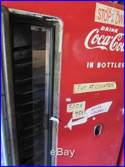 Vintage Upright Untouched Wv-6-t Westing House Coke Machine