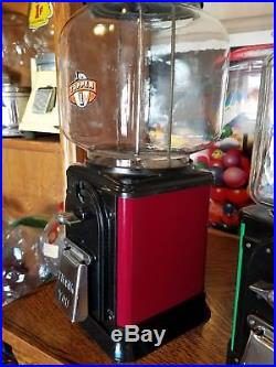 VINTAGE Victor Model topper Glass Globe 1 Cent gumball machine Red restored