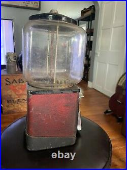 VINTAGE Victor Topper Deluxe 1 Cent Nuts / Candy Machine Gum Ball