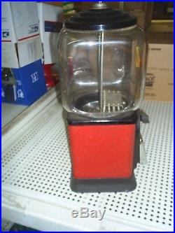 VINTAGE Victor Topper Glass Globe 1 Cent Nuts / Candy Machine 1950's Good Cond