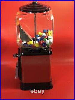 VINTAGE Victor Topper With View Window Glass Globe 1 Cent Gumball Machine