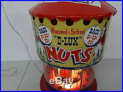 VTG 1950's Big Top Circus Roasted Salted Nuts Lighted Motion Lamp Peanut Warmer