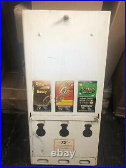 VTG 1970s Condom Vending Machine Original Decals Gas Station, Rest Room with Key