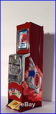 Vtg Luckystrike Cigarette Advance Vending Machine Coin Op