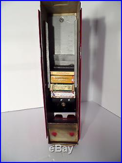 Vtg Luckystrike Cigarette Advance Vending Machine Coin Op