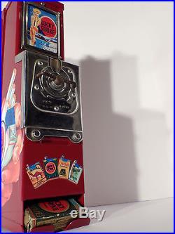 VTG LuckyStrike Cigarette Advance Vending Machine, coin op gum/mint, cigar, candy