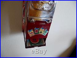 VTG LuckyStrike Cigarette Vending Machine, coin op gum, match, trade stimulator, gas