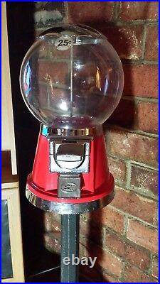 VTG Selectivend Red Bubblegum Machine Attached to a Removable Stand Gently Used