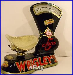 VTG Toledo Candy Scale Wrigleys Gum coin op vending machine, country store, soda