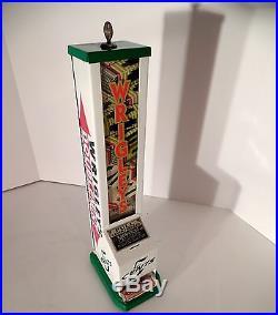 VTG Wrigleys Vending Machine, coin op gum candy, cigar, Matches, Wrigley Store Sign