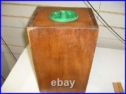 Victor Vending Corp. Gumball Candy Machine Oak Wood Sides Vintage Parts Baby