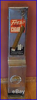 Vintage 10 Cent Cigar Vending Machine Coin Operated