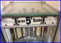 Vintage 1902 Mansfield Automatic Clerk Pepsin Gum Vending Machine