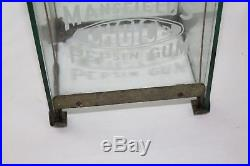 Vintage 1902 Mansfield Automatic Clerk Pepsin Gum Vending Machine Glass Case