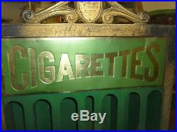 Vintage 1925 RARE Rowe Table Top Model Cigarette Coin Vending Machine Stand