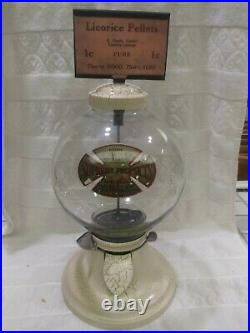 Vintage 1930 Coin Op Simpson Vendor Bulk Vending Machine Penny Coin Op Damaged