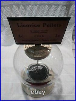 Vintage 1930 Coin Op Simpson Vendor Bulk Vending Machine Penny Coin Op Gumball