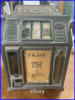 Vintage 1930 Dandy Vendor Slot Machine Simulator Vending Gumball Cigarette