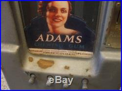 Vintage 1930's Adams Chewing Gum 1 Cent Penny Vending Machine