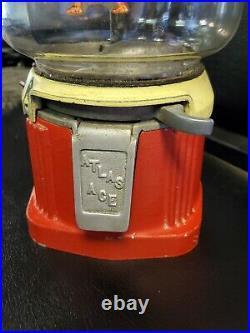 Vintage 1930's Atlas ACE Penny Coin Op Vending Gum Ball Peanut Machine original