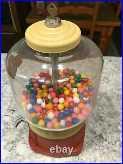 Vintage 1930's Atlas Ace Gumball Peanut machine Mint condition