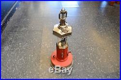 Vintage 1930's Red & Chrome Van-Lite Lighter Fluid Dispenser 1 Cent Gas Pump