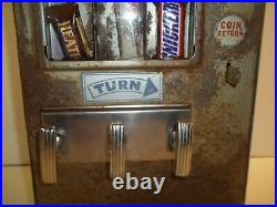 Vintage 1930's Shipman 5 cent candy gum vending machine