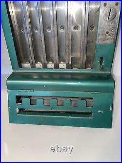 Vintage 1930s Mills Automatic One Cent Gum Machine For Parts Or Repair