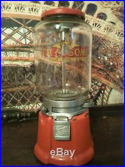 Vintage 1933 Northwestern 33 Peanut Gumball Candy Vending Machine Coin Op 1 Cent