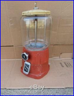 Vintage 1940 Art Deco Style Atlas Gumball Peanut Vending Machine ORIGINAL