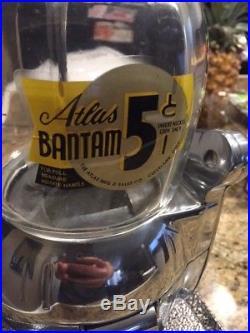 Vintage 1940's Atlas Bantam Candy Store Peanut Vending Machine Red
