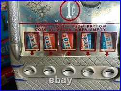 Vintage 1940's Lawrence Penny One Cent Gum Chocolate Candy Machine