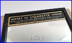 Vintage 1940s 40s 1 Cent Midget Wall Mount Cigarette Vending Machine Art Deco
