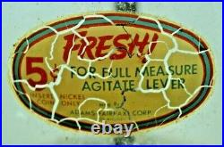 Vintage 1940s 5 Cent Abbey Mfg. CASH TRAY Gumball Nut Vending Machine Coin Op