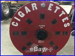 Vintage 1940s Dial-A-Smoke Cigarette Vending Machine Coin Operated with Keys