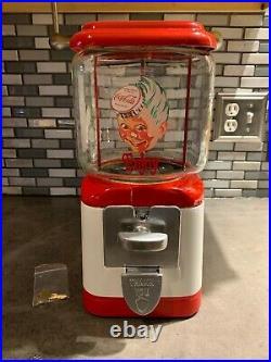 Vintage 1948 Acorn Gumball Machine Themed in Coca Cola