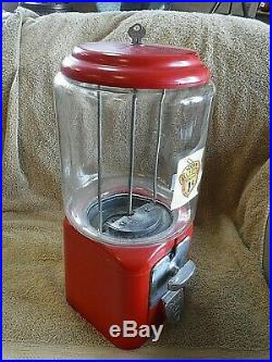 Vintage 1949 Acorn Brand One-Cent Gumball Machine with Key