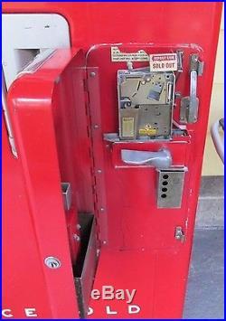Vintage 1949 VENDO COCA COLA VENDING MACHINE Kansas City 5' RED White Letters VG