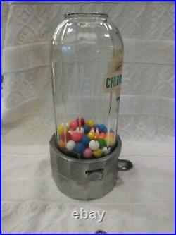 Vintage 1950 Penny Atlas Midget Gumball Vending Machine Chlorophyll Gum Original
