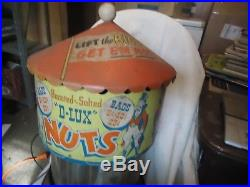 Vintage 1950'S D-LUX Nuts Big Top Circus Peanut Warmer Dispenser Motion Lamp