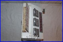 Vintage 1950's American Postmaster Postage Stamp Metal Vending Machine Sign