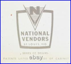 Vintage 1950's Candy Vending Machine National Vendors Series CC Deluxe 9 Slots