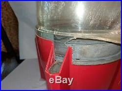 Vintage 1950's Carlton Rocket Gumball Machine 1 Cent needs TLC