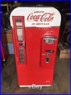 Vintage 1950's Coca-Cola Vendo 81 Coin Operated Coke Vending Pop Machine