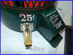 Vintage 1950's Lucky Strike Table Top Cigarette VENDING MACHINE 25 Cent COIN OP